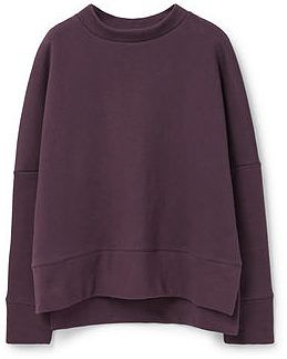 Womens aubergine sweatshirt minimal from Mango - £29.99 at ClothingByColour.com