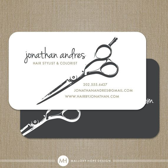 Modern Hair Stylist or Barber Business Card / by MalloryHopeDesign, $48.00
