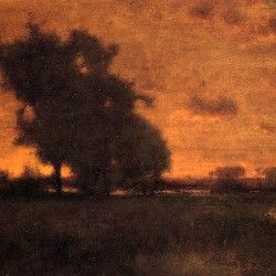 George Inness - Sunset at Milton