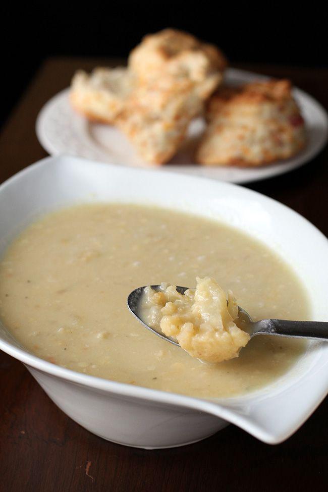 Cheesy Cream of Cauliflower soup
