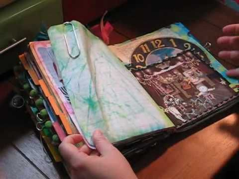 How To Make Your Own Junque Journal: Part 1 of 3.  Instructional video by Tangie Baxter =)