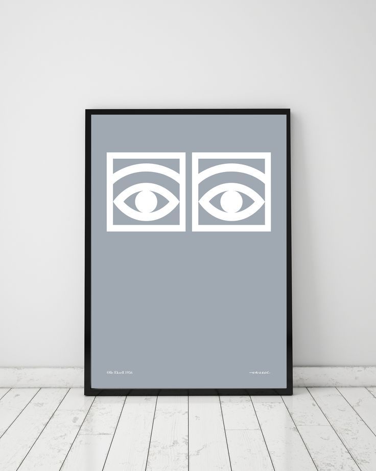 The product Ögon Cacao Gray- 1956 - One Eye - 50x70 is sold by Olle Eksell - WELCOME TO THE OFFICIAL WEBSHOP OF THE LEGENDARY SWEDISH DESIGNER OLLE EKSELL (191 Tictail lets you create a beautiful online store for free - tictail.com