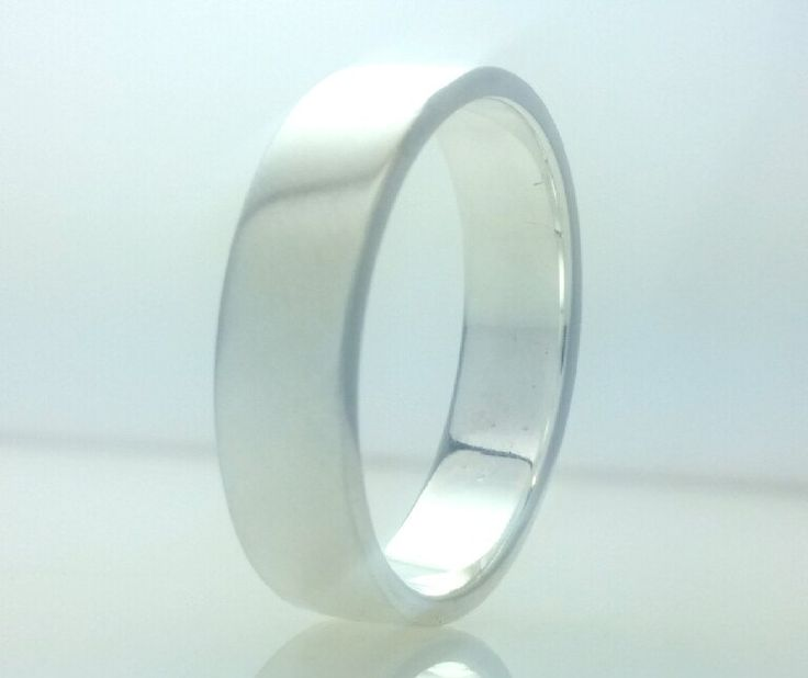 Flat Wedding Band Ring 5mm 925 Sterling Silver,5mm His or Her,Full Vertical Brushed,Wedding Ring,All Sizes One Price by Vaptism on Etsy