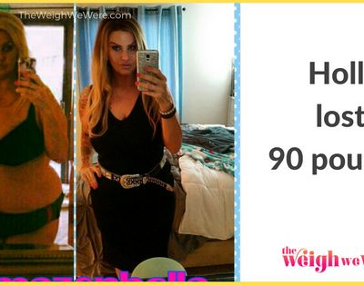NAME : Holly BEFORE WEIGHT : 300 AFTER WEIGHT : 210 POUNDS LOST : 90