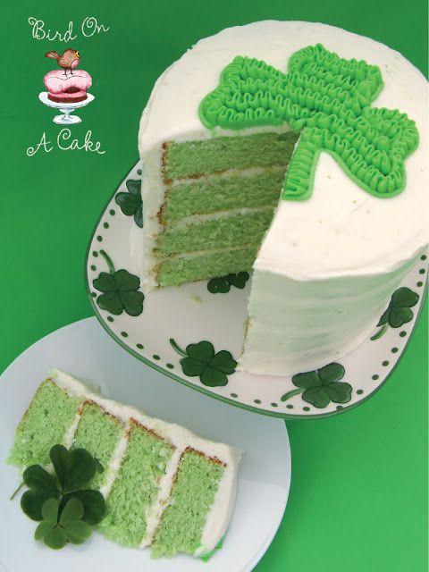Bird On A Cake: Key Lime Shamrock Cake