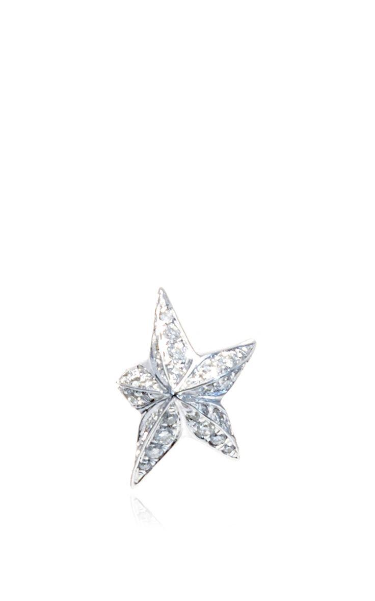 TOMASZ DONOCIK White Gold Star Earring With White Diamonds