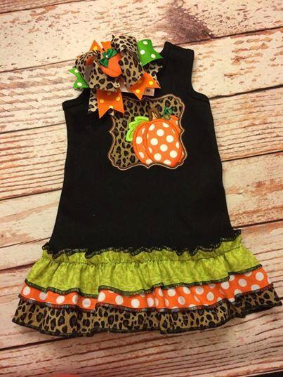 Pumpkin Dress- Pumpkin Embroidered Shirt- Embroidered Shirt- Embroidery Shirt- Pumpkin bow