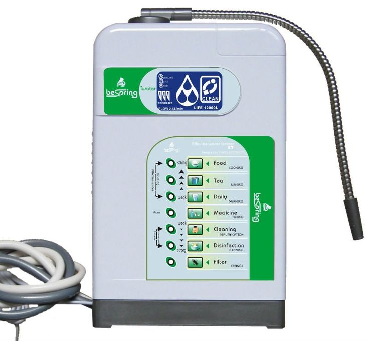 Bespring multi-functional alkaline ionizer purifier is a water purification system installed in the kitchen faucet, take the tap water as the water source, through purification, mineralization and the electrolysis process, change the tap water into two types of water, one is acid water that used to skin caring and cleaning. The another is mineral-rich alkaline ...