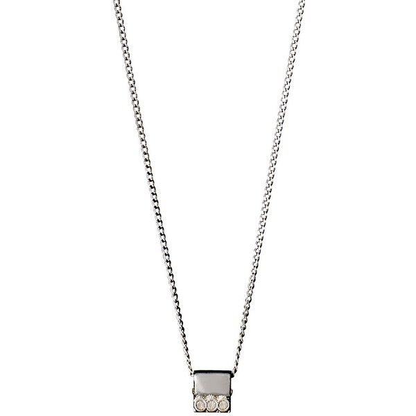 Pilgrim Pilgrim Czech Crystal Necklace (52,095 KRW) ❤ liked on Polyvore featuring jewelry, necklaces, silver, crystal stone necklace, pilgrim necklace, pilgrim jewelry, crystal necklace and pilgrim jewellery