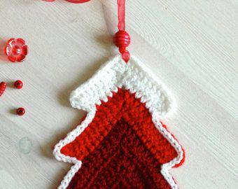 Christmas tree ornaments - Crochet Christmas decorations by Melinda Pix