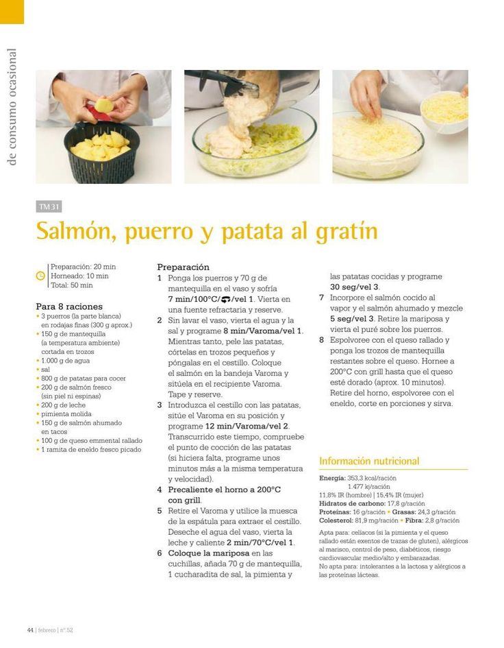Salmon puerro y patatas al gratin