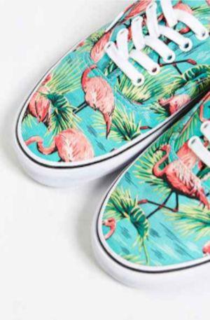 cute flamingo sneakers