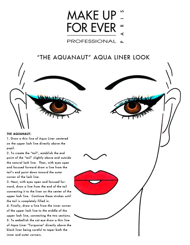 Gorgeous Face Charts from Makeup Forever Featuring New Aqua Liner!