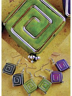 Cute and clever: Paperclips and leftover polymer clay make easy-peasy cute earrings. Ooh, where ELSE could this go?