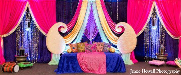 mehndi party traditional decor http://maharaniweddings.com/gallery/photo/11100