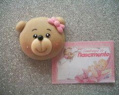 Lembrancinha De Nascimento. Chaveiro/ímã de geladeira em biscuit.