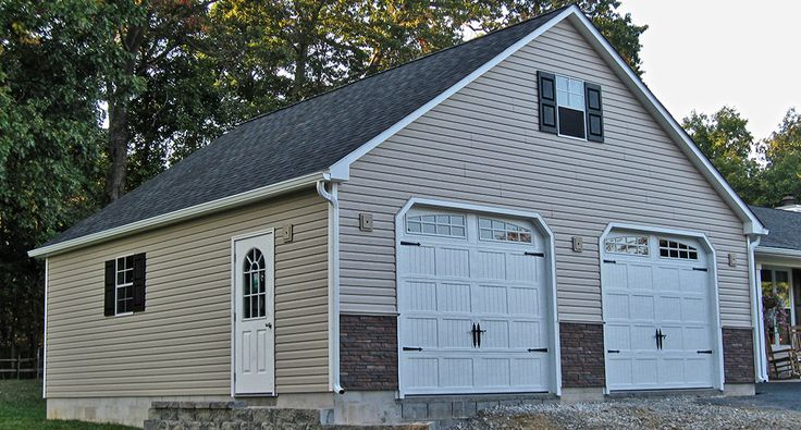 Beautiful two story garage kits 6 stick built 2 car for Two story pole building plans