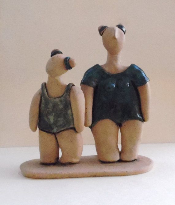 Ceramic sculpture of young ballet dancers girls in by ednapio, $124.00