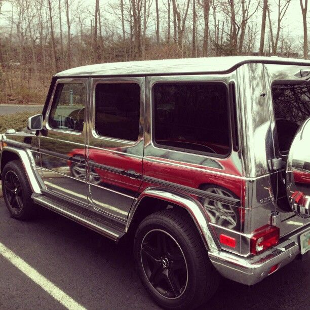 All chrome #G-Wagen at the @Monica Busa headquarters.