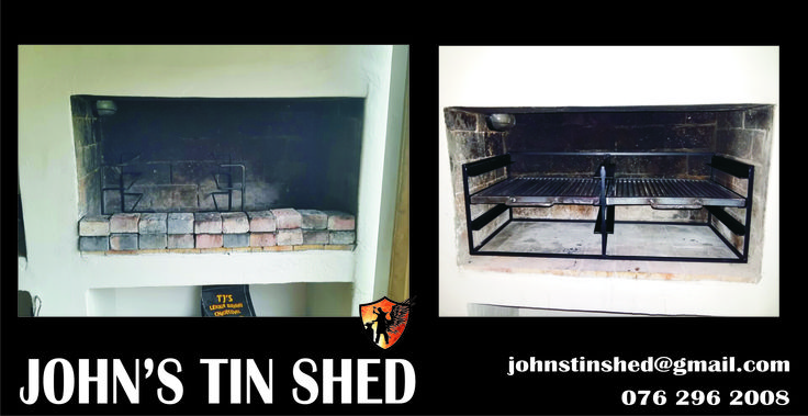 Before and after Custom Braai Grid
