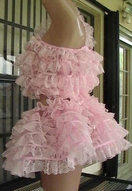Adult bABy Sissy Chiffon and lace Ruffles Rumba by
