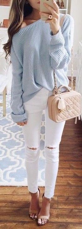 knits + rips pastel tones