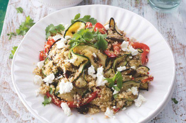 Kuskusový salát s grilovanou zeleninou
