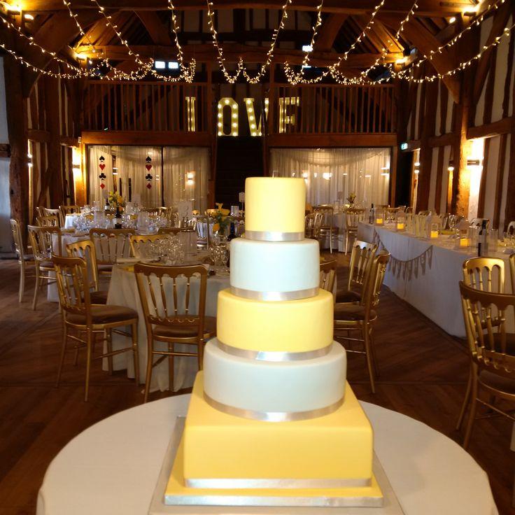 A 12 string fairy light wave canopy in true warm white @Thetudorbarnweddings The Tudor Barn Burnham #barnwedding #fairlights #wedding #eventprofs #weddinglighting