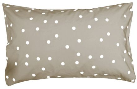 Room Styling www.roomie.co.nz  Castle and Things - WHITE RANDOM SPOT PILLOWCASE