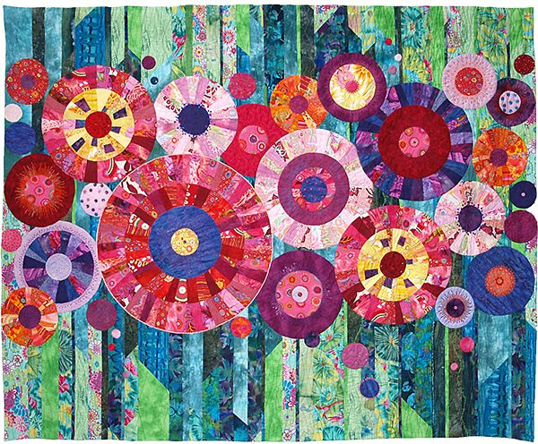 Full Circle by Marianne Mohandes.  Art quilt.  Quilters' Guild of the British Isles, 2013 Festival of Quilts.