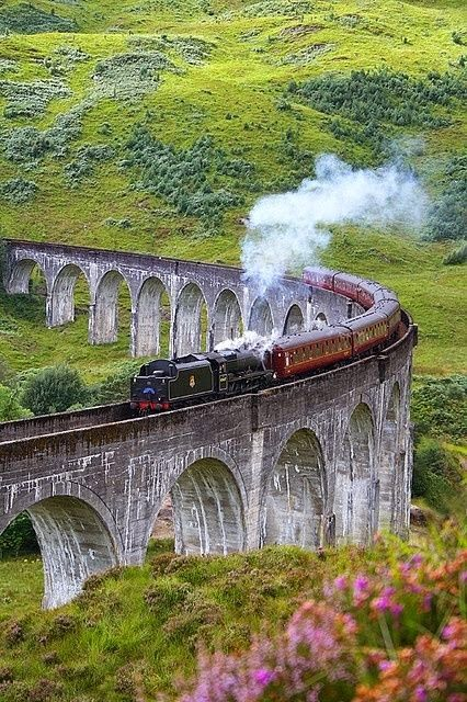 Glenfinnan Viaduct, Scotland. Harry Potter was here.