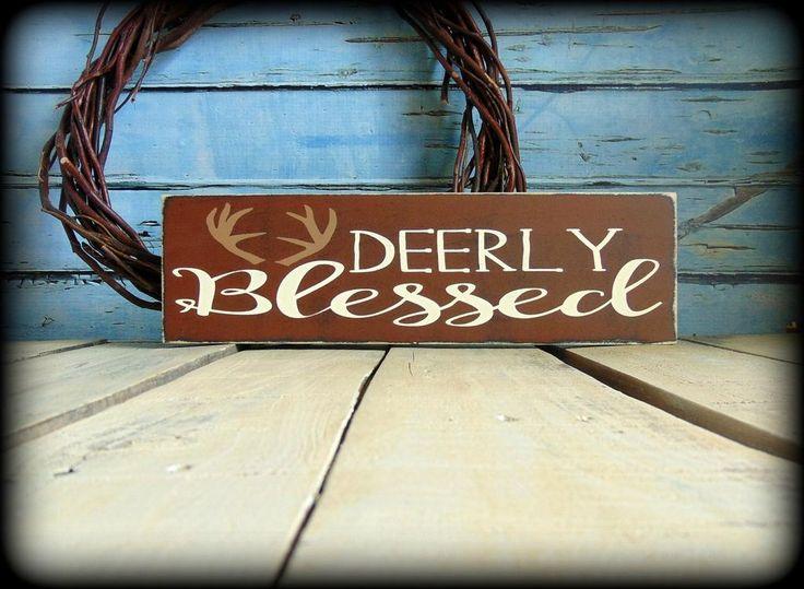 Rustic Wooden Woodland Theme Decor Deer Sign