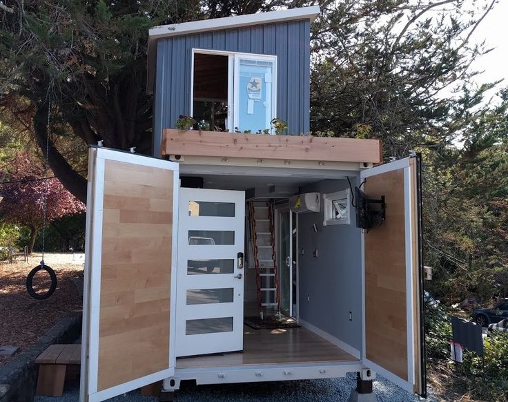 122 best images about rv small houses on pinterest - Two story shipping container homes ...