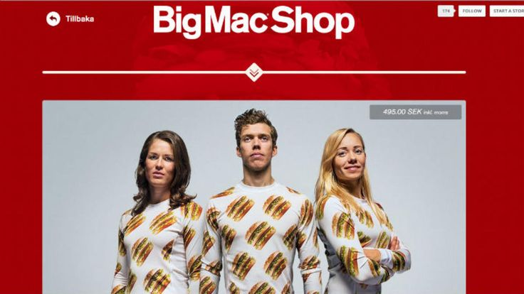 NBC Chicago - from McDonald's hometown - is also covering the new BigMac collection at bigmacshop.se