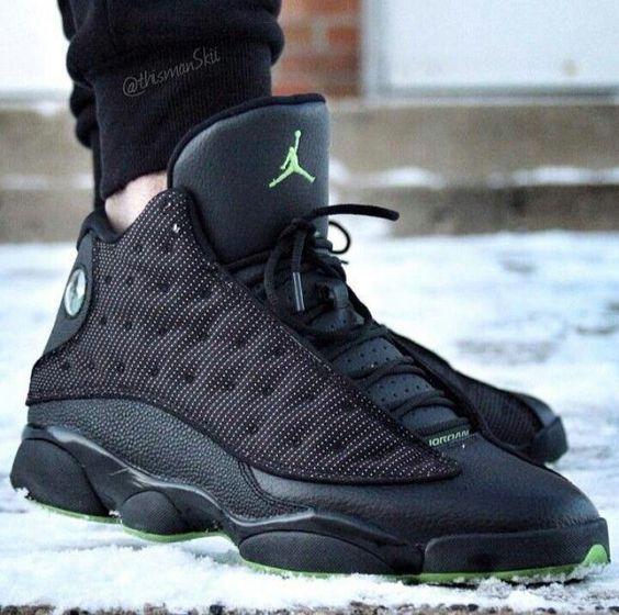 Click to order - Air Jordan 13 Retro Black/Green #shopping #fashion #