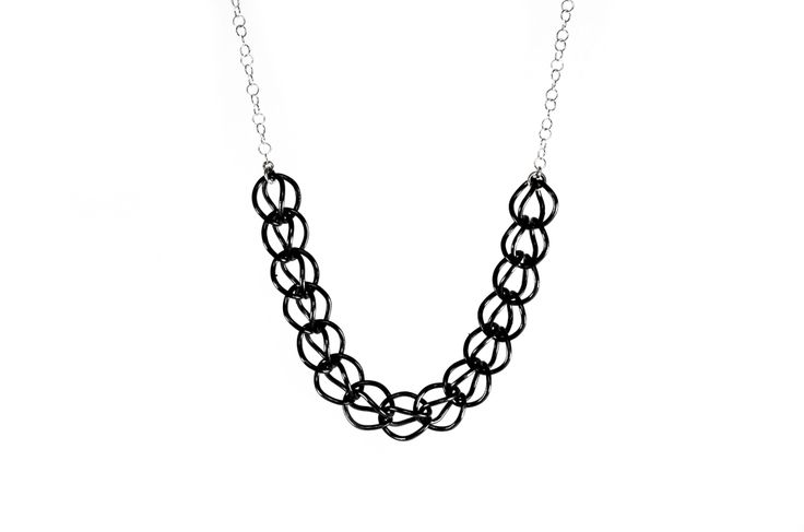 Links series necklace / oxidized silver