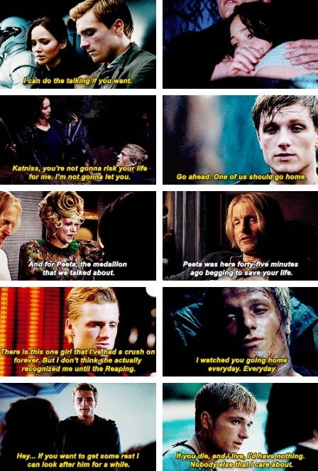 """Peeta is pretty darn fantastic. """"You could live a hundred lifetimes and not deserve him."""""""