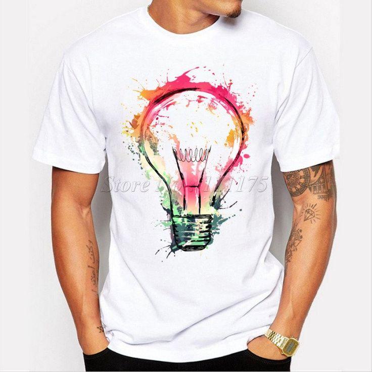 Free USA Shipping Short Sleeve Tee Round Neck Men's T-Shirt 100% Cotton Handmade