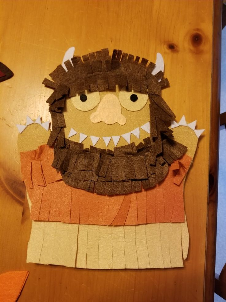 Where the Wild Things Are        No sew hand puppet.