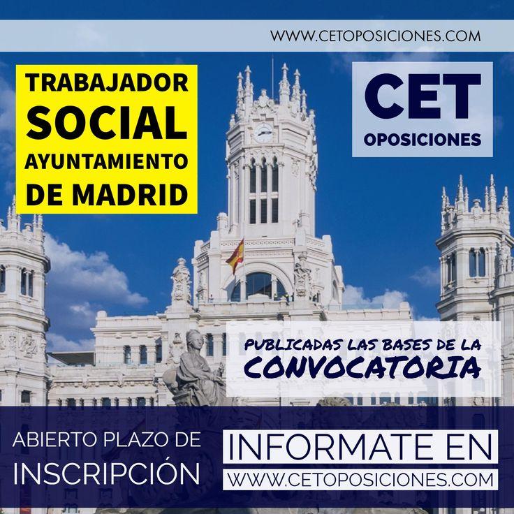 Academia Oposiciones Trabajo Social Madrid, Oposiciones Trabajador Social Ayuntamiento de Madrid