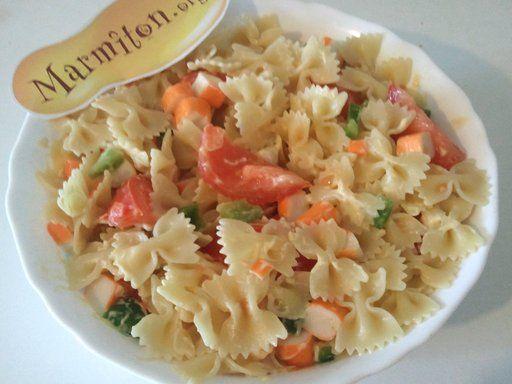 les 25 meilleures id 233 es concernant salade pates surimi sur surimi recette salade de
