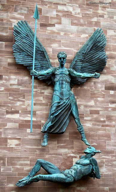 St. Michael's victory over the Devil, 1958, Sir Jacob Epstein - Coventry Cathedral, Coventry, England