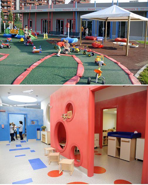 #Kindergarten #GUIDOBIMBO by #StudioGaruglieri #kid #happy #colour #new #opening #milan #children