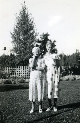 Aunt Rose and Grandmother Kray.