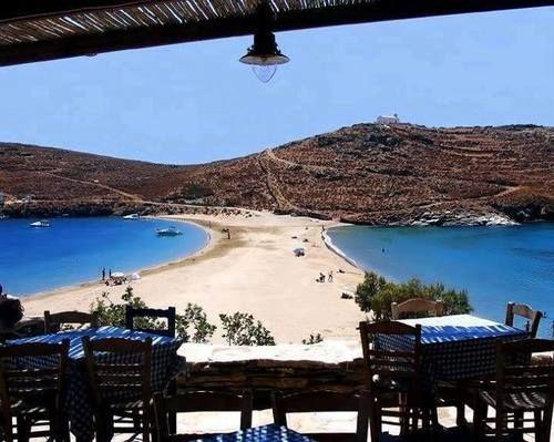 Kolona beach, Kythnos, Greece