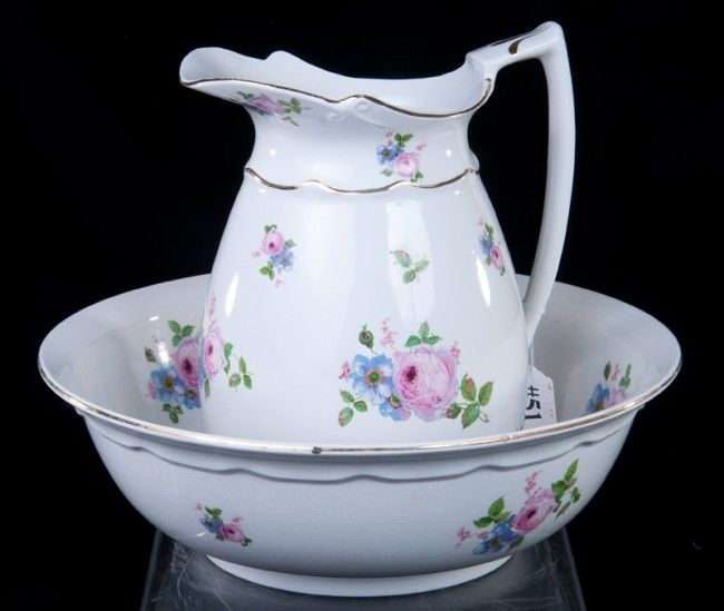 Bristol Porcelain Pitcher & Bowl