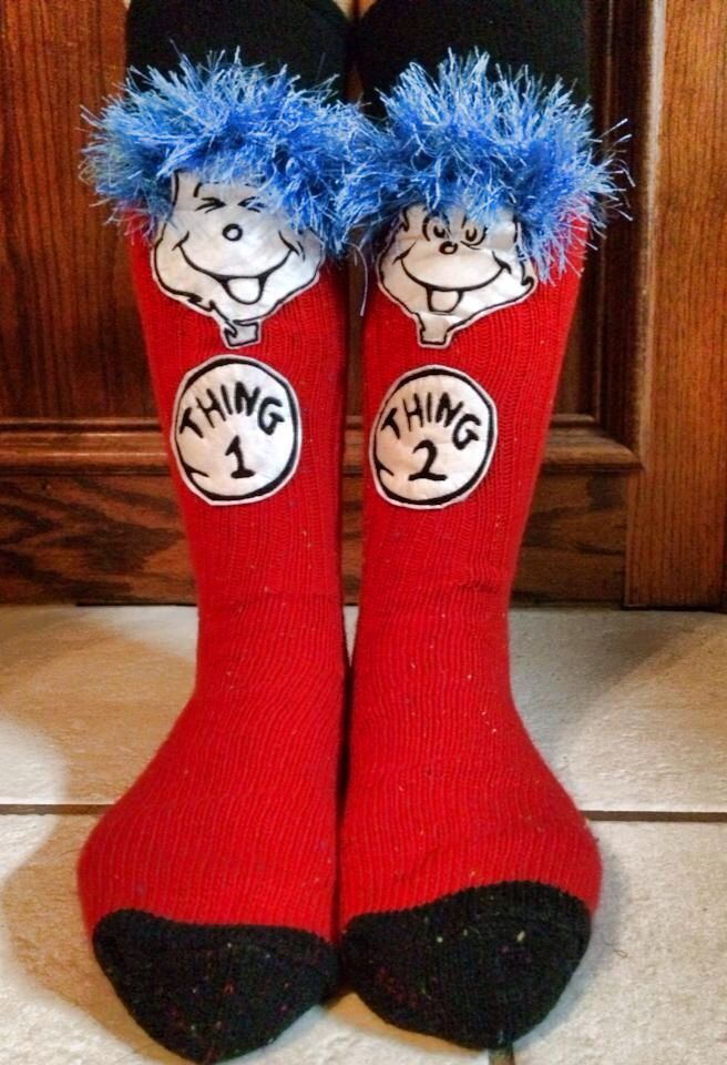 Crazy socks day!! Dr. Seuss week