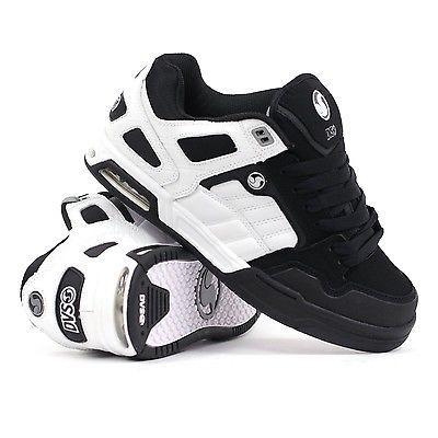 New DVS Throttle Skateboard Skate Shoes - White/Black Nubuck - All Sizes