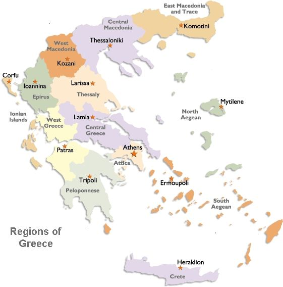 Map - Discover Greece