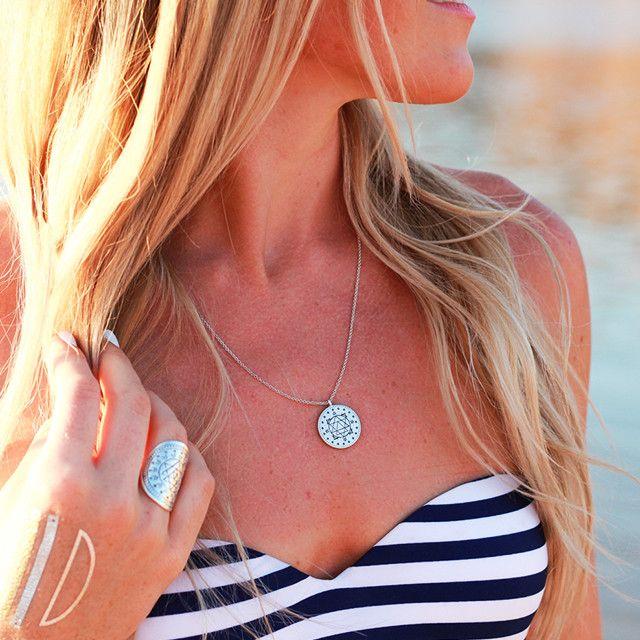 Mantra Mandala Necklace | Meditation Jewelry | Tiny Devotions